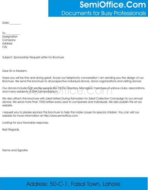 Sponsorship Letter For The Gallery For Gt Sponsorship Letter