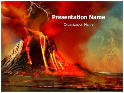 Powerpoint Themes Volcano | volcano powerpoint template background
