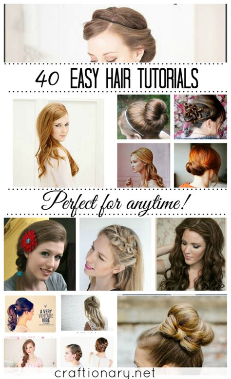 over 50 easy hair tutorials craftionary