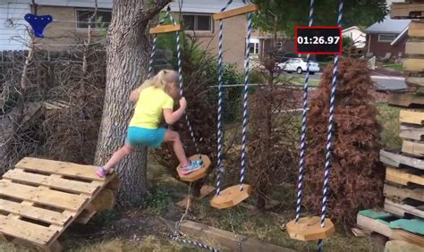 Backyard For 5 Year Olds Builds Backyard Warrior Obstacle Course For Five