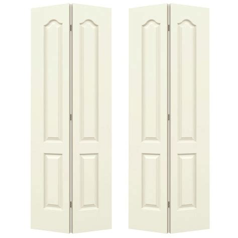 60 Bi Fold Closet Doors 60 Bi Fold Closet Doors Pinecroft 60 In X 80 In Seabrooke 6 Panel Raised Panel White Hollow