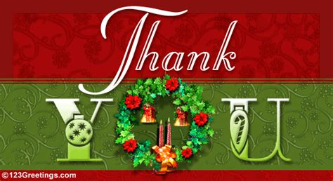 Do You Send Thank You Cards For Christmas Gifts - thank you free thank you ecards greeting cards 123 greetings