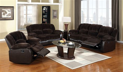 rustic living room set winslow rustic brown reclining living room set cm6556 s