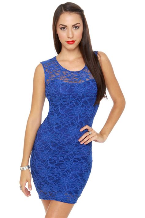 sexy blue dress royal blue dress lace dress