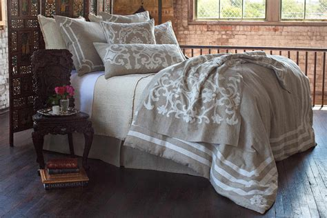 lili alessandra bedding lili alessandra angie natural linen with white linen applique bedding collection
