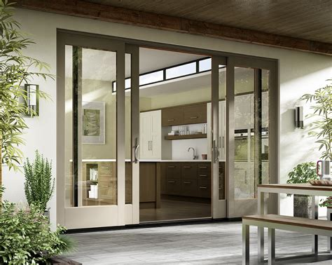 exterior sliding patio doors essence series 174 wood doors milgard windows doors