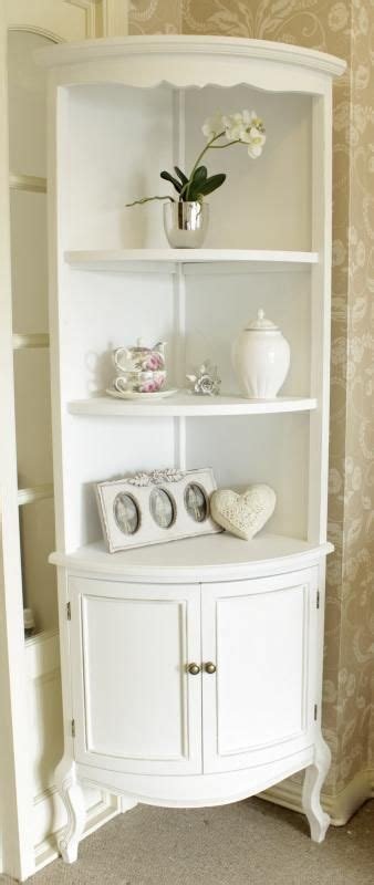 white tall corner shelf unit  cupboard melody maison