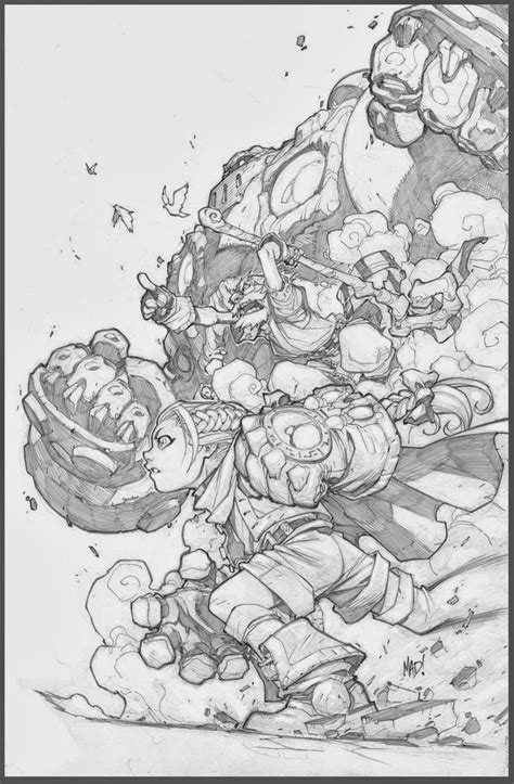 sketchbook joe madureira battle chasers sketch joe madureira mad