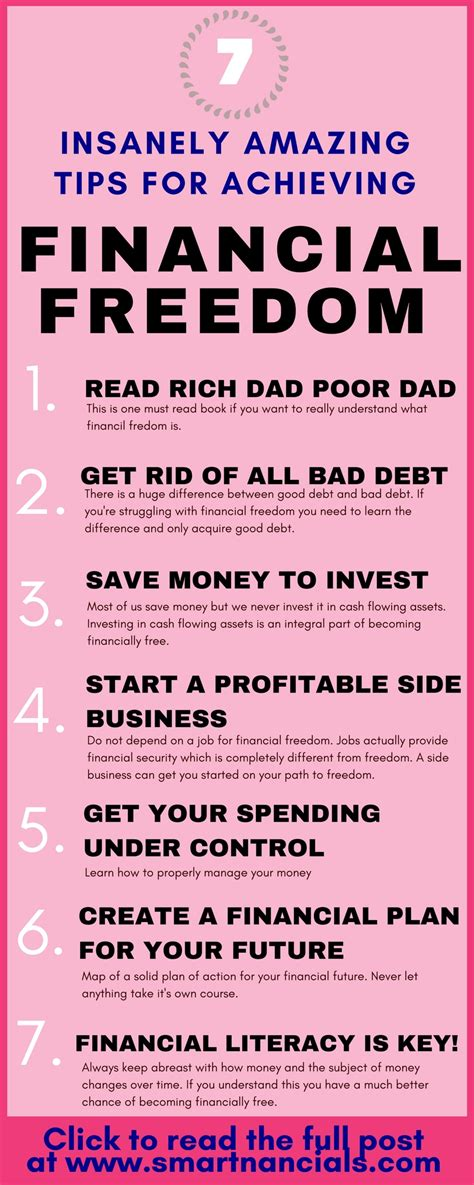 the way to financial freedom how to become financially independent in your 30s books 7 insanely amazing tips for achieving financial freedom