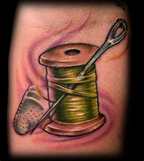 needle and thread tattoo george perham needle and thread