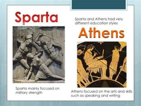 education in athens and sparta youtube
