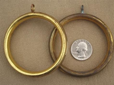 big curtain rings vintage brass curtain rings 60s 70s retro big round