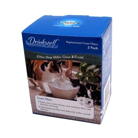 drinkwell lotus pet water drinkwell lotus foam prefilter replacements a part of