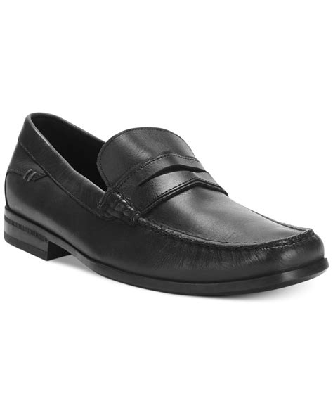 hush puppies loafers mens hush puppies circuit loafers in black for lyst