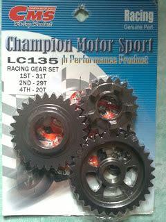palex motor parts gear racing cms 1 2 4 yamaha lc135 spark135 jupiter mx sniper 135