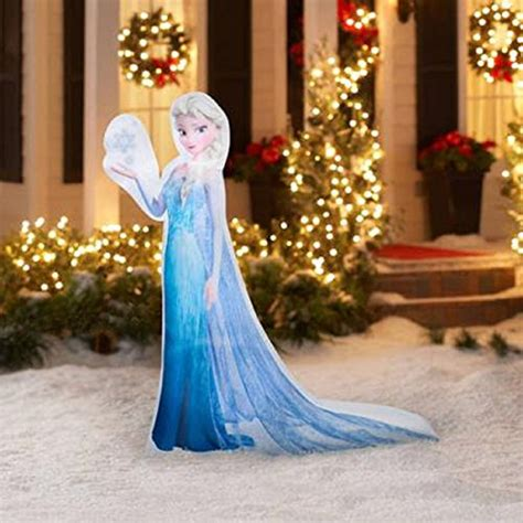 christmas inflatable 5 led photoreal elsa disney frozen