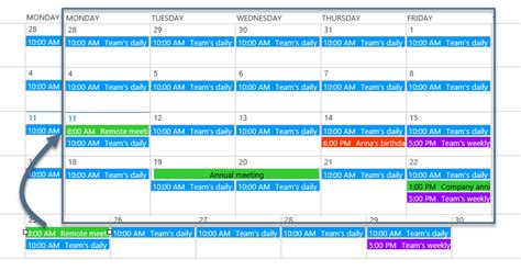 color coding sharepoint calendar events sharepoint calendar rollup web part integrate and color