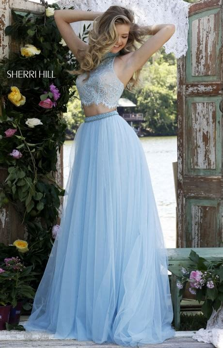 sherri hill  lovely  lace gown prom dress