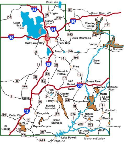 road map of utah sp 233 cial guide utah et grand circle autour du grand