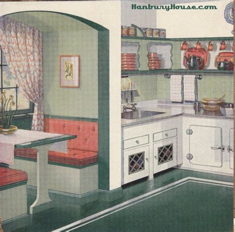 Kitchen Colors Of The 1950 S 40s Kitchen Zing Bourgeoise Bloomers