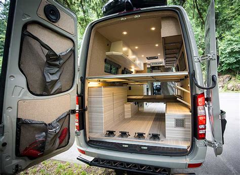 Flip Sofa valhalla 4x4 mercedes benz sprinter mobile home by outside van