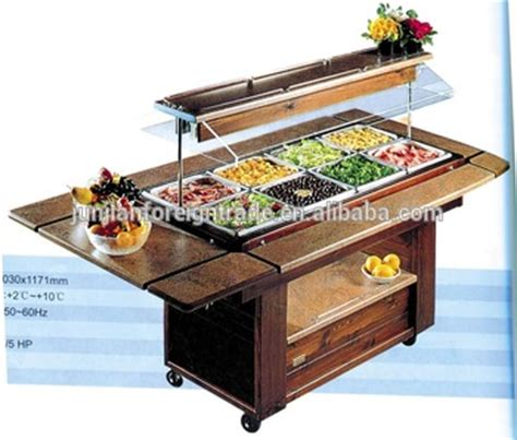 hotel buffet salad bar counter for restaurant with ce approval in guangzhou buy high quality