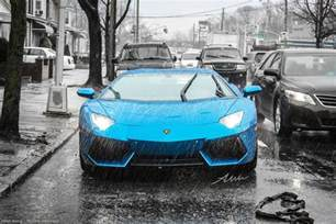 2012 azure blue lamborghini aventador in the oc