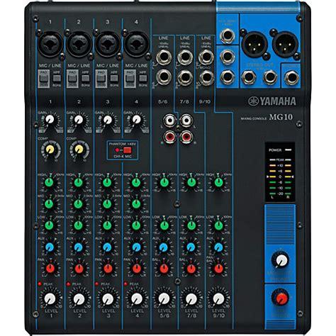 Best Desk Lighting Yamaha Mg10 10 Channel Mixer Musician S Friend