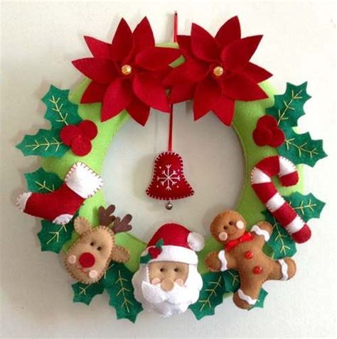 imagenes navideñas en fieltro m 225 s de 25 ideas incre 237 bles sobre coronas de navidad en