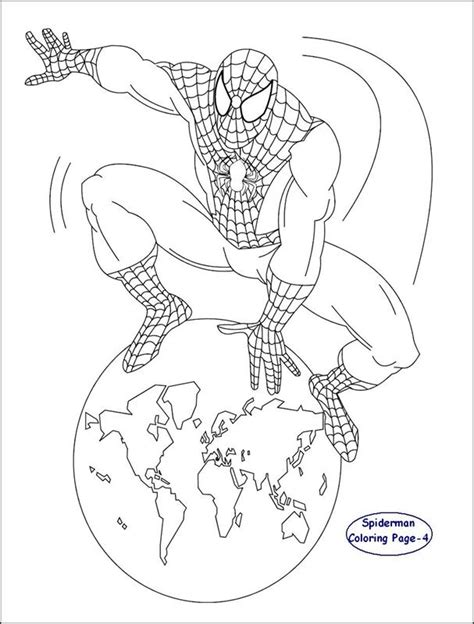 spiderman coloring page for kids 4