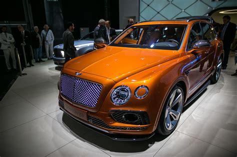 orange bentley bentayga bentley bentayga diesel will use electric turbocharger