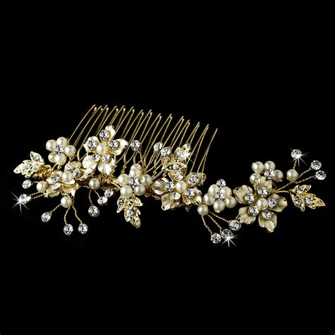 Wedding Hair With Comb by Gold Wedding Hair Combs Hairstylegalleries