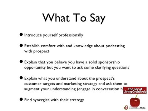 Pitching Your Show To A Sponsor Podcast Sponsorship Template