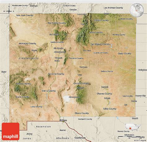 physical map of new mexico satellite 3d map of new mexico shaded relief outside