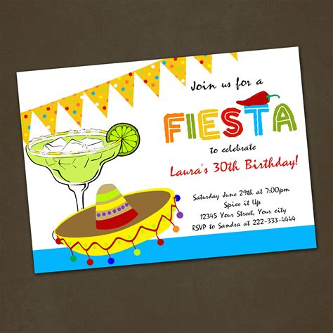 Mexican Fiesta Birthday Party Invitations You By Pinkskyprintables Fiesta Pinterest Mexican Invitation Templates Free
