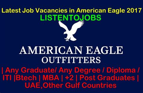 Outfitters Mba by Vacancies In American Eagle 2017 Listentojobs