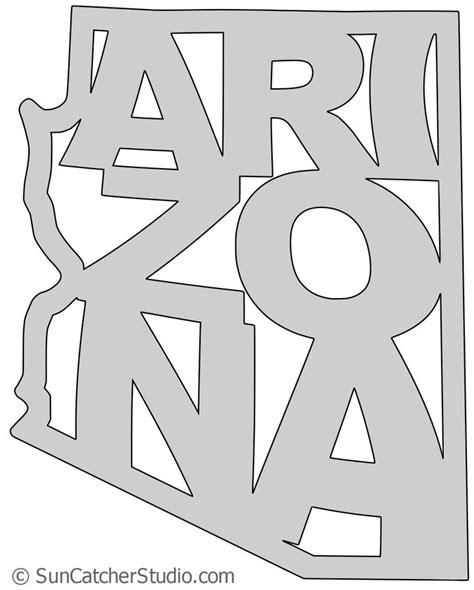 arizona map outline printable state shape stencil
