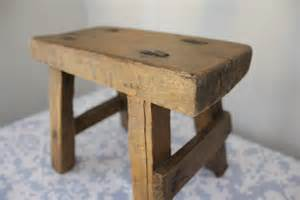 rustic salvaged wood small stool