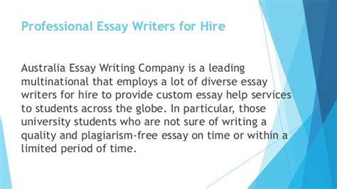 Professional Essay Writing Service by Professional Best Essay Writers Service Au