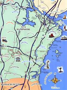 coastal map map of new hshire coast
