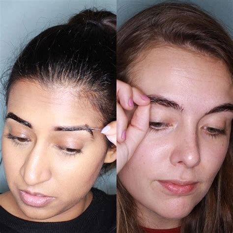 tattoo eyebrows maybelline review maybelline tattoo brow review we tried tattoo brows and