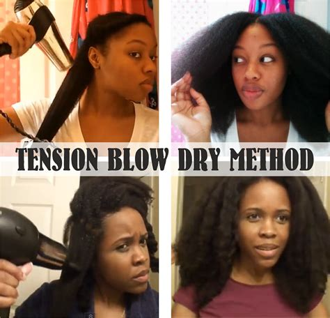 how to easy blowout blowdry routine wet to dry youtube how to blow dry natural hair using the tension method