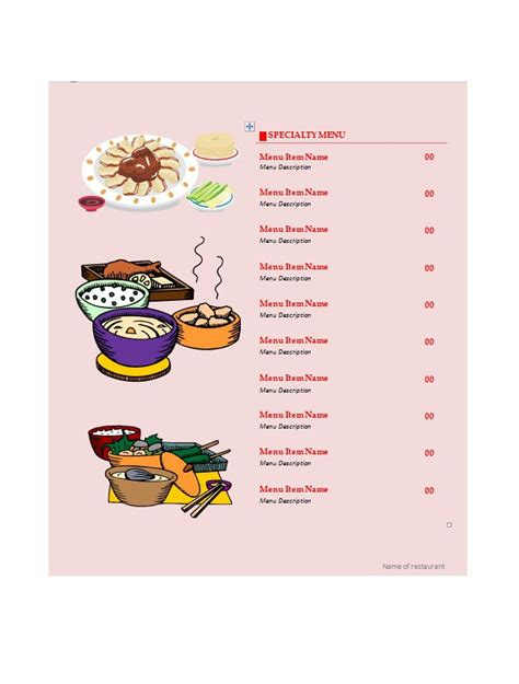 design a menu template free 31 free restaurant menu templates designs free