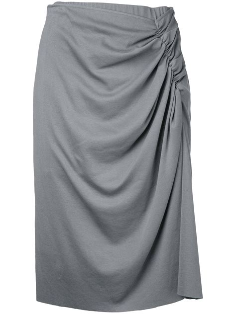 astraet pleated skirt cotton 0 in gray lyst