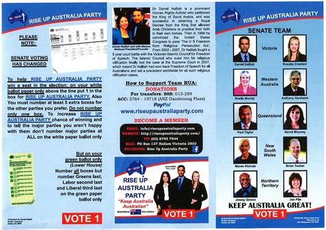 political brochure rise up australia 187 rise up australia political