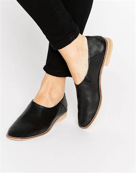 Marrakech Booties asos marrakech leather flat shoes in black lyst