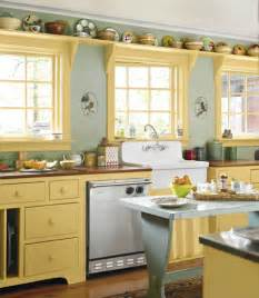 Country Kitchen Color Ideas Yellow And Green Country Kitchen Decorating Envy