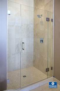 install glass shower door frameless glass shower spray panel oasis shower doors ma