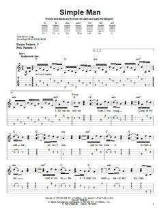 strumming pattern simple man shinedown simple man chords music pinterest simple man and
