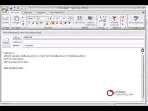 email format deutsch outlook tutorial deutsch emails senden youtube